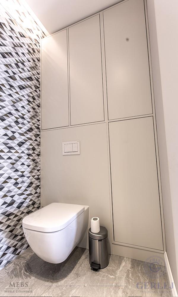 Matowa Zabudowa łazienki Szafki łazienkowe Mat