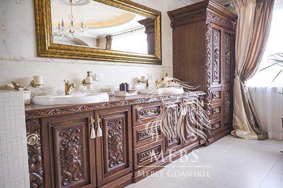 Meble łazienkowe Meble Gdańskie Rzeźbione Ręcznie W Litym