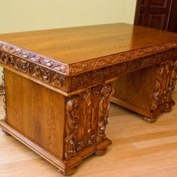 Biurko stylowe ręcznie rzeźbione