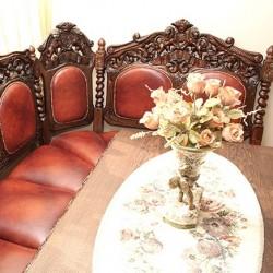 Sofa rzeźbiona w stylu antycznym