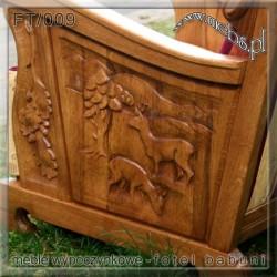 Fotel wypoczynkowy ręcznie rzeźbiony