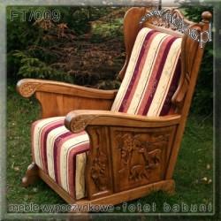 Fotele Stylowe z litego drewna dębowego