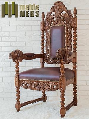 Fotel w stylu myśliwskim