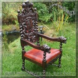 Fotele Gdańskie ręcznie rzeźbione
