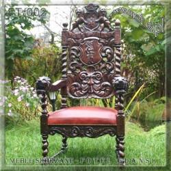 Fotele skórzane w stylu antycznym