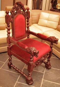Fotel rzeźbiony do Kościoła