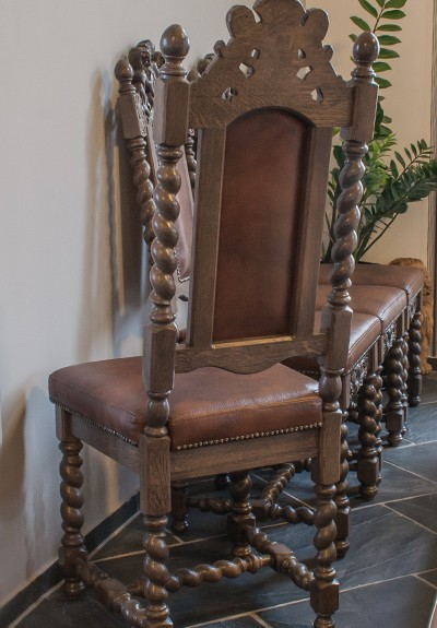 Krzesła drewniane dębowe