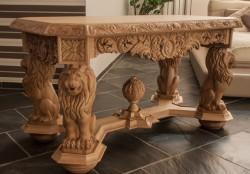 Rzeźbiony stolik kawowy
