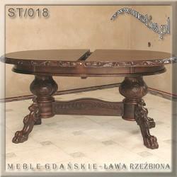Stół rozkładany do wypoczynku z litego drewna
