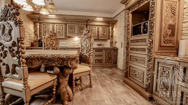 Meble Drewniane Do Kuchni I Jadalni Meble Gdańskie Rzeźbione