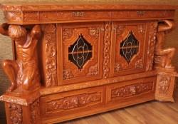 Meble artystyczne z litego drewna