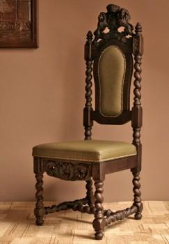 Krzesła stylowe z warkoczami