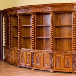 Stylizowana biblioteka na książki w stylu antycznym