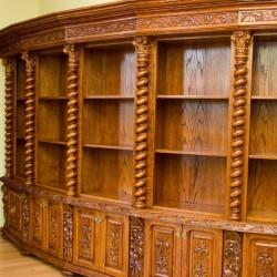 Meble gdańskie regał na książki w starym stylu