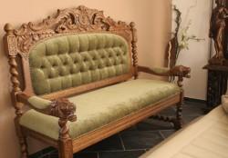 Sofa rzeźbiona wypoczynkowa