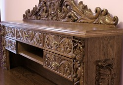 carved desks