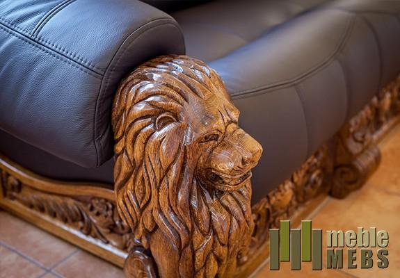 Skórzana sofa do wypoczynku