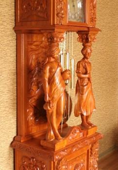 Meble rzeźbione zegary stojące