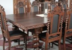 krzesła stylowe do sali obrad w starym stylu