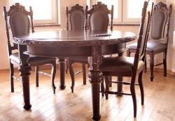 Stół gdański okragły