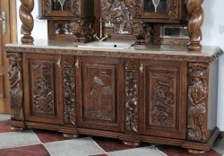 Meble stylowe do kuchni z litego drewna