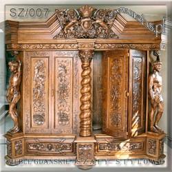 Szafy Gdańskie ręcznie rzeźbione w litym drewnie
