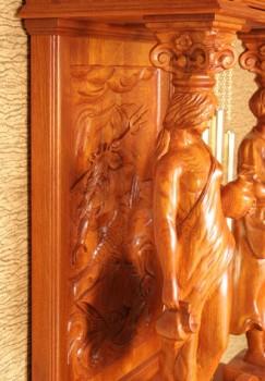 Meble stylizowane zegary z litego drewna