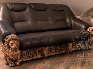 stylowa sofa skórzana